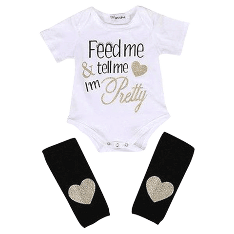 Petite Bello Bodysuit 0-3 Months Feed Me Heart Clothing Set