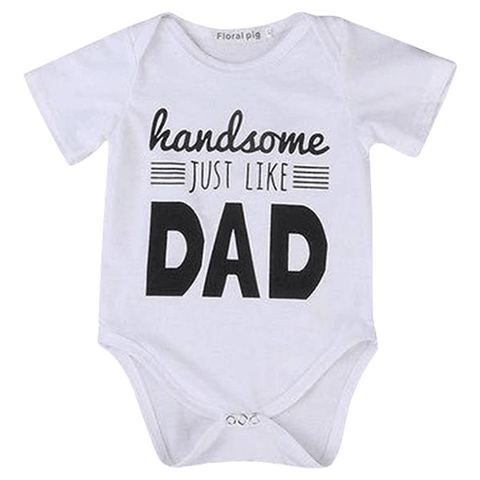 Petite Bello Bodysuit 0-3 Months Handsome Like Dad Bodysuit