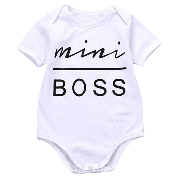Petite Bello Bodysuit 0-3 Months Mini Boss Bodysuit