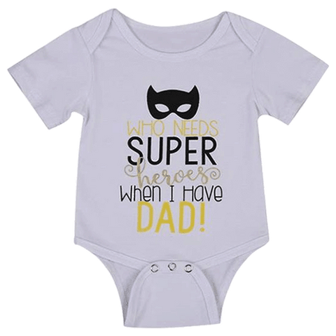 Petite Bello Bodysuit 0-3 Months Who Needs Super Heroes Bodysuit