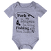 Petite Bello Bodysuit 0-6 months Gray Pack My Diapers Bodysuit
