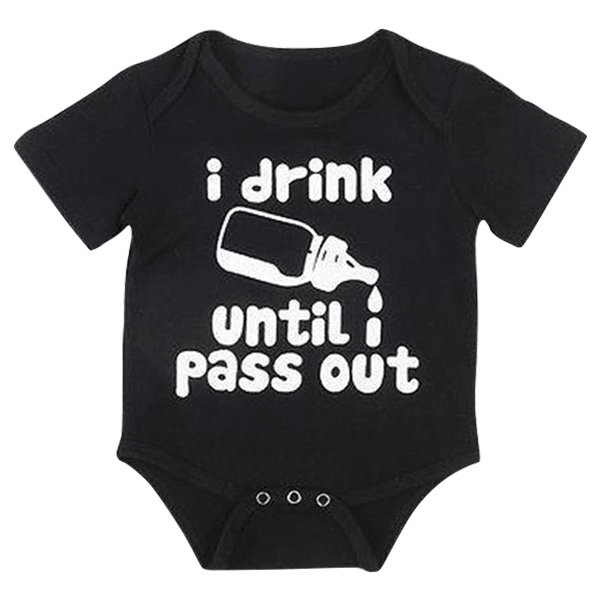 Petite Bello Bodysuit 0-6 Months I Drink Milk Bodysuit