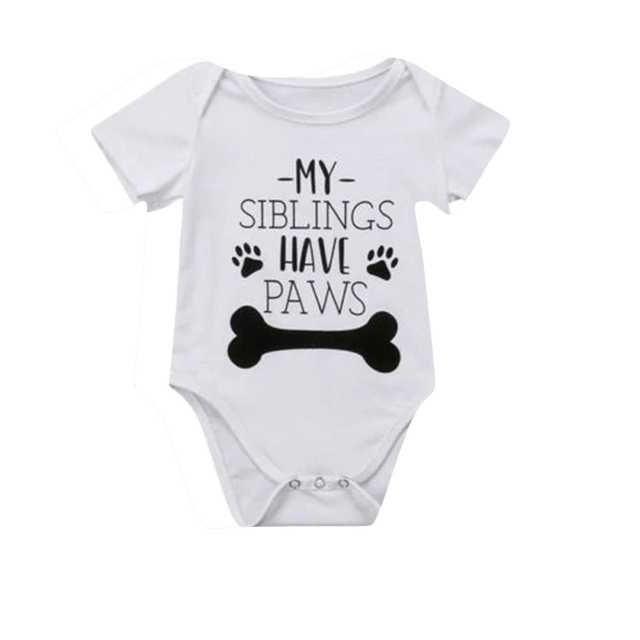 Petite Bello Bodysuit 0-6 Months My Siblings Have Paws Bodysuit