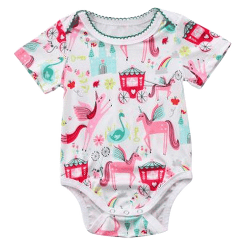 Petite Bello Bodysuit 0-6 Months Unicorn Kingdom Bodysuit