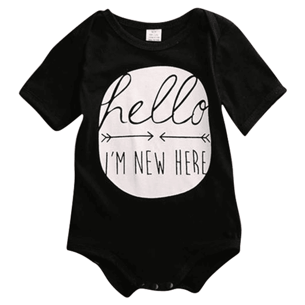 Petite Bello Bodysuit Black / 0-6 Months I'm New Here Bodysuit