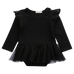 Petite Bello Bodysuit Black / 0-6 months Tutu Lace Bodysuit