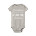 Petite Bello Bodysuit Grey white / 18-24 Months A Long Time Bodysuit