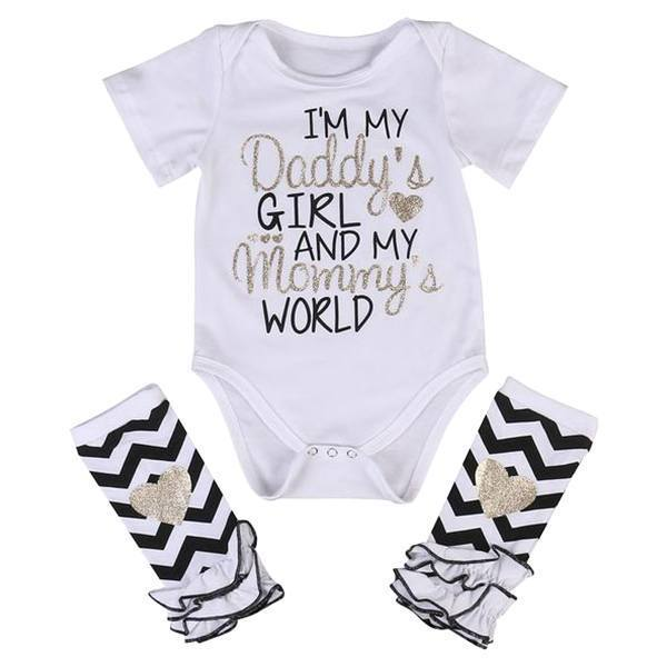 Petite Bello Bodysuit set 0-3 Months I'm My Daddy's Girl 2pcs Bodysuit Set