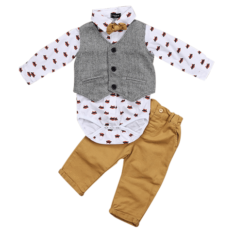 Petite Bello Bodysuit set 0-6 Months Baby Raccoon 3pcs Clothing Set