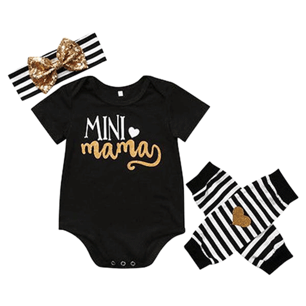 Petite Bello Bodysuit set 0-6 months Mini Mama Clothing Set
