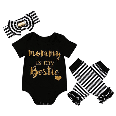 Petite Bello Bodysuit set 3-6 months Mommy Is My Bestie Girl Bodysuit Set