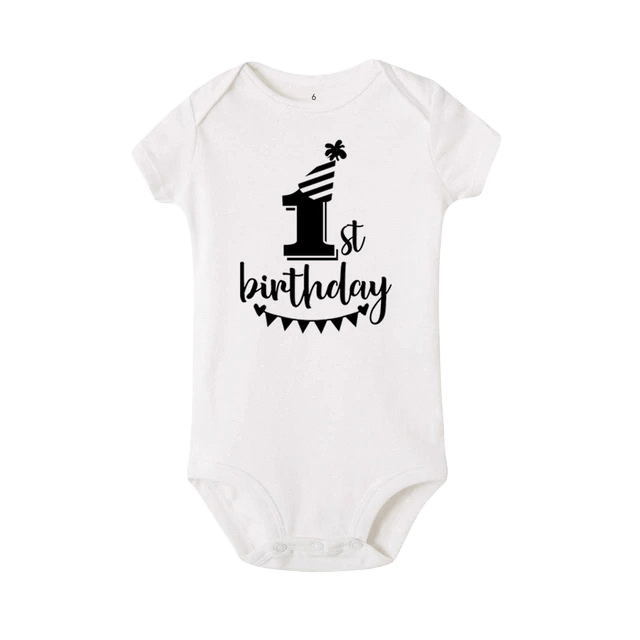 Petite Bello Bodysuit White / 2-3T 1st Birthday Bodysuit