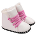 Petite Bello booties White / 0-6 Months Trendy Snow Booties