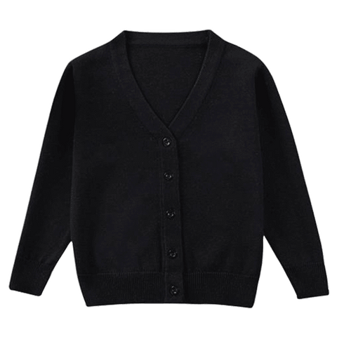 Petite Bello cardigan Black / 2-3T Plain Knitted Cardigan