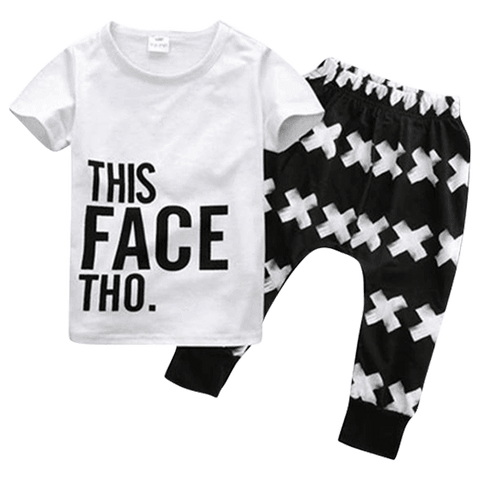Petite Bello Clothing Set 0-1 Year This Face Clothing Set
