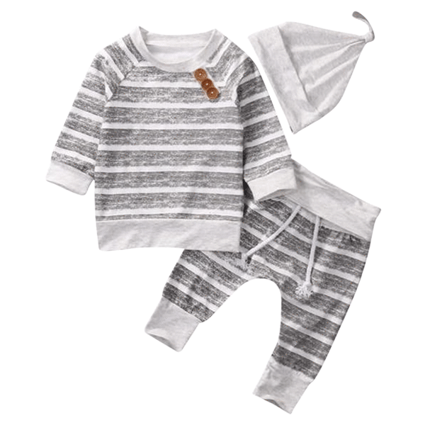 Petite Bello Clothing Set 0-3 Months Autumn Striped Clothing Set