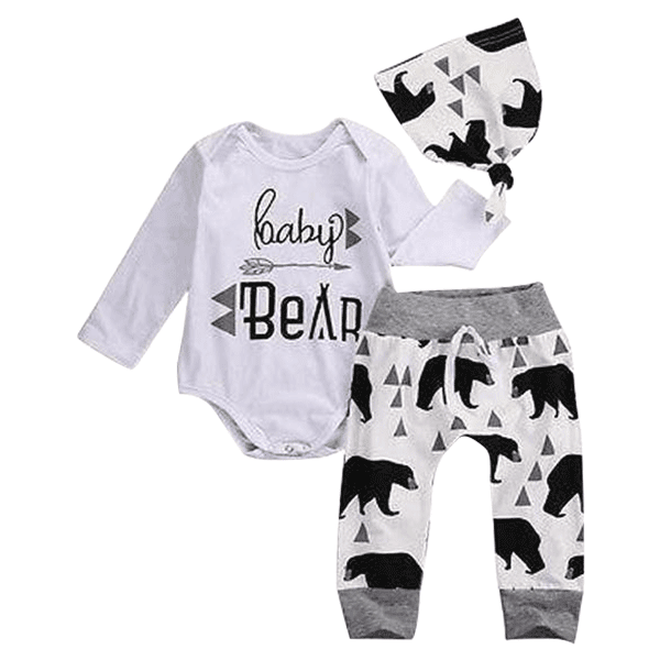 Petite Bello Clothing Set 0-3 months Bear 3pcs Clothing Set