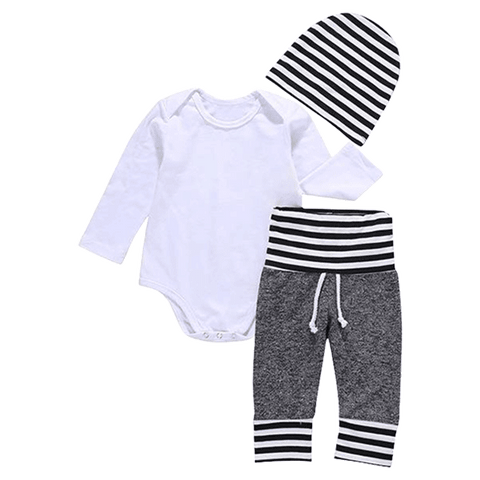 Petite Bello Clothing Set 0-3 Months Cozy 3pcs Bodysuit Set