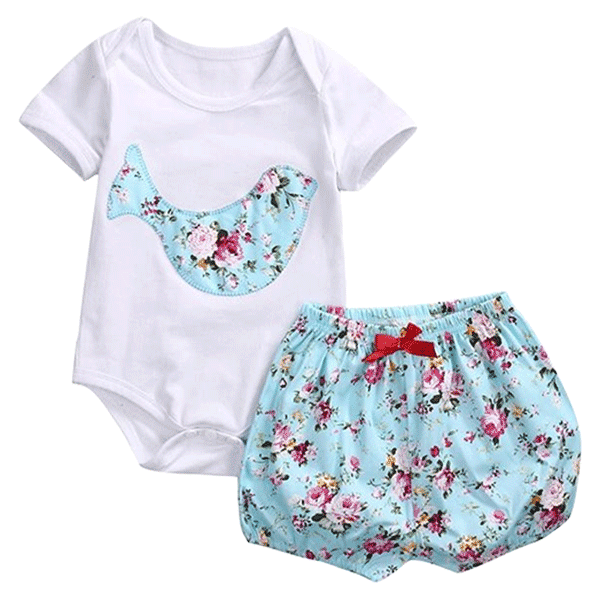 Petite Bello Clothing Set 0-3 months Floral Bird Clothing Set