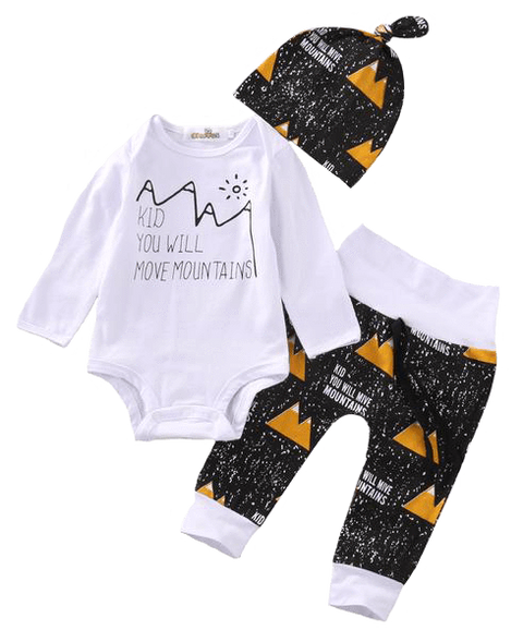 Petite Bello Clothing Set 0-3 months Kid Move Mountains Clothing Set