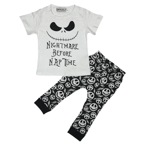 Petite Bello Clothing Set 0-3 months Nightmare Before Nap Time Clothing Set