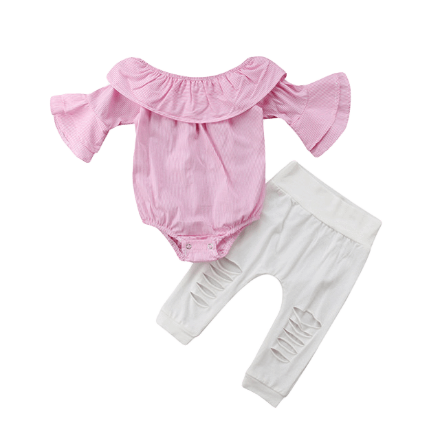 Petite Bello Clothing Set 0-6 Months Abish Off Shoulder Clothing Set