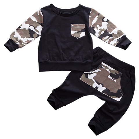 Petite Bello Clothing Set 0-6 Months Baby Camouflage Clothing Set