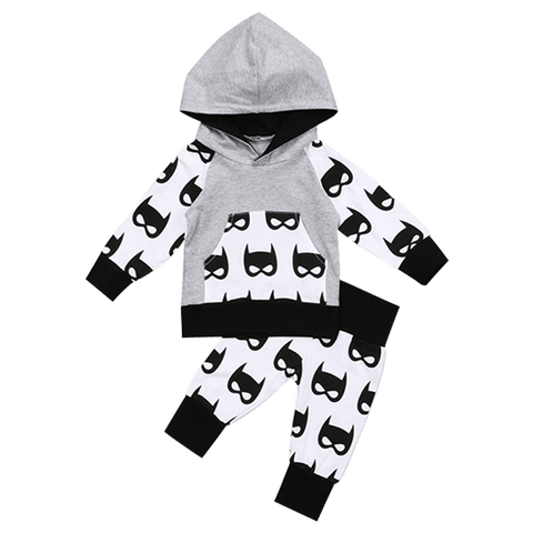 Petite Bello Clothing Set 0-6 Months Batman Hooded Clothing Set