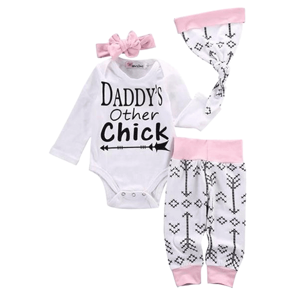 Petite Bello Clothing Set 0-6 months Daddy's Other Chick 3pc Clothing set