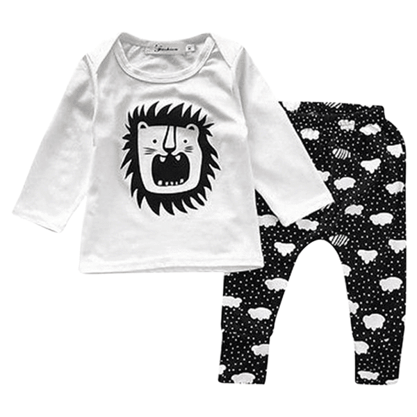 Petite Bello Clothing Set 0-6 months Lion Clothing Set