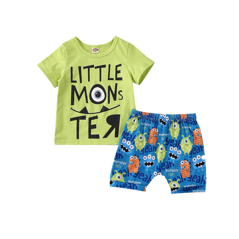 Petite Bello Clothing Set 0-6 Months Little Monster Clothing Set