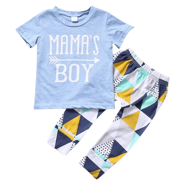 Petite Bello Clothing Set 0-6 months Mama's Boy Triangle Clothing Set