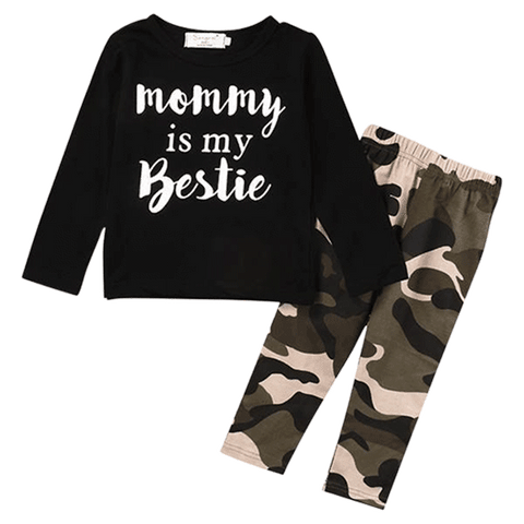 Petite Bello Clothing Set 0-6 months Mommy is My Bestie Clothing Set
