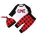 Petite Bello Clothing Set 0-6 Months One Plaid 3pcs Clothing Set