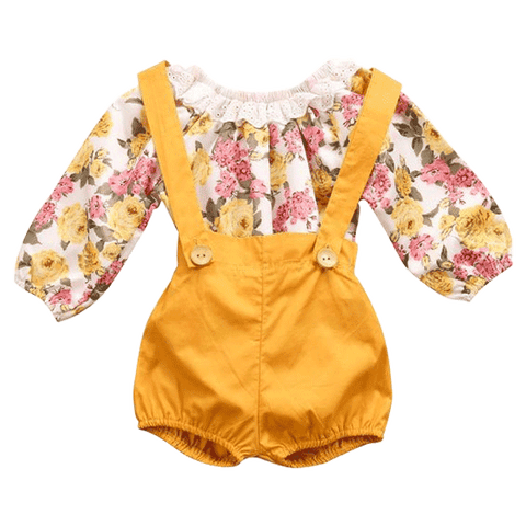 Petite Bello Clothing Set 0-6 Months Shiloh Floral Set