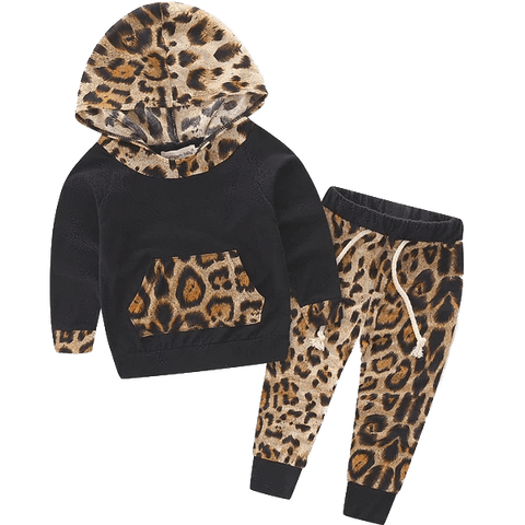 Petite Bello Clothing Set 0-6 Months Tiger Hooded Clothing Set