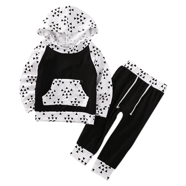 Petite Bello Clothing Set 0-6 Months Triangle Clothing Set
