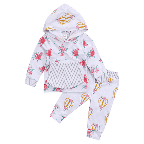 Petite Bello Clothing Set 0-6 Months Zigzag Floral Clothing Set