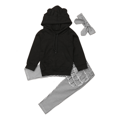 Petite Bello Clothing Set 1-2T 3D Ears Hooded Clothing Set