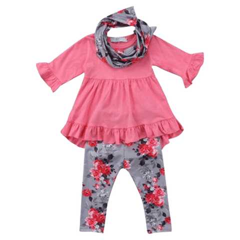 Petite Bello Clothing Set 1-2T Pretty Pink Floral Clothing Set