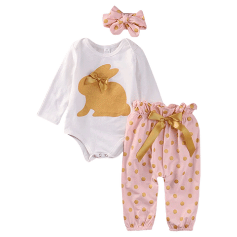 Petite Bello Clothing Set Polka Dot Rabbit Clothing Set