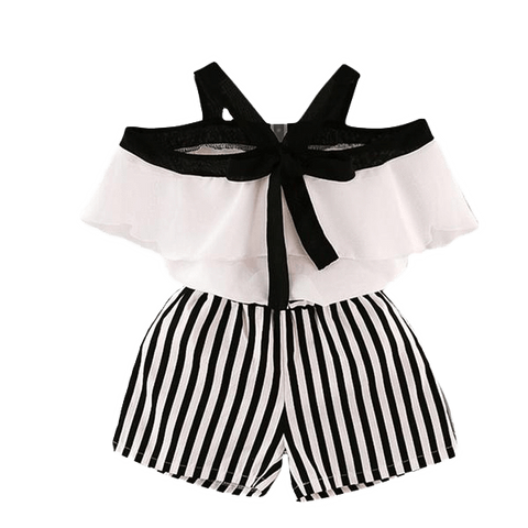 Petite Bello Clothing Set 2-3T Summer Girls Striped Clothing Set