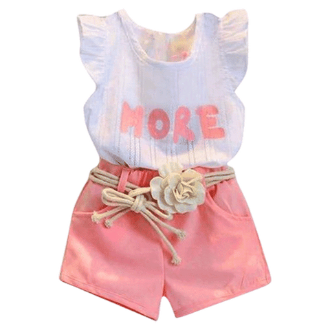 Petite Bello Clothing Set 2-3T Zoe Letter Print Clothing Set