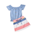 Petite Bello Clothing Set 4-5T Julia Striped Clothing Set