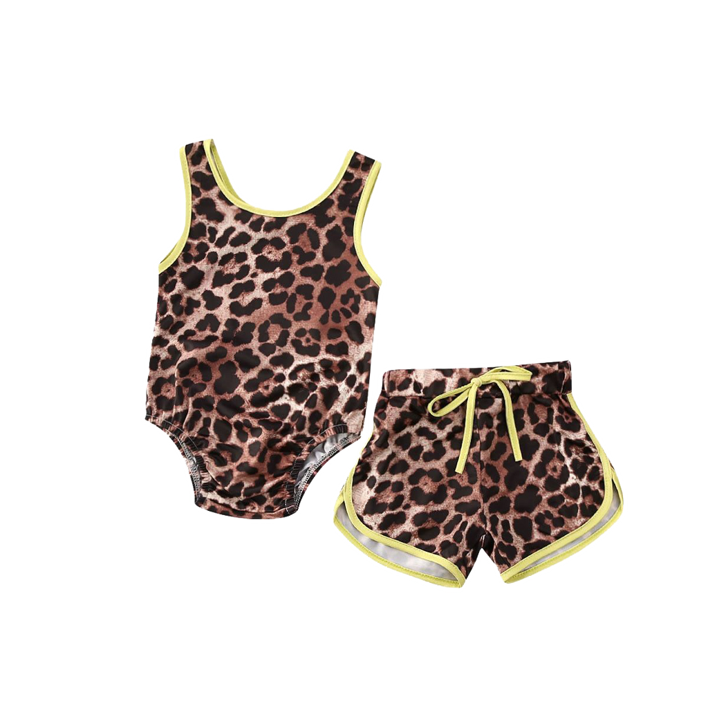 Petite Bello Clothing Set 6-12 Months Leopard Swimwear