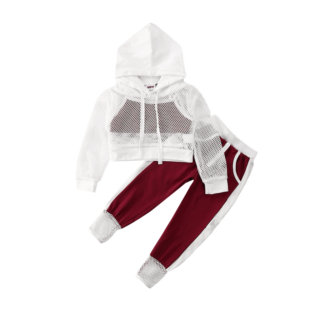 Petite Bello Clothing Set 6-7T Mesh Hooded Clothing Set