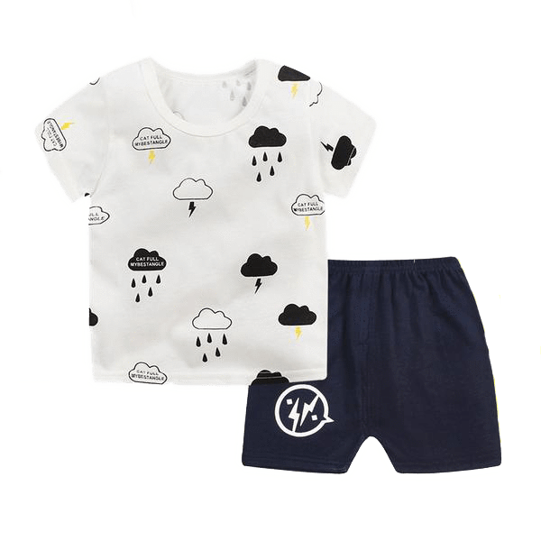 Petite Bello Clothing Set Black / 12-18 Months B&W Clouds Clothing Set