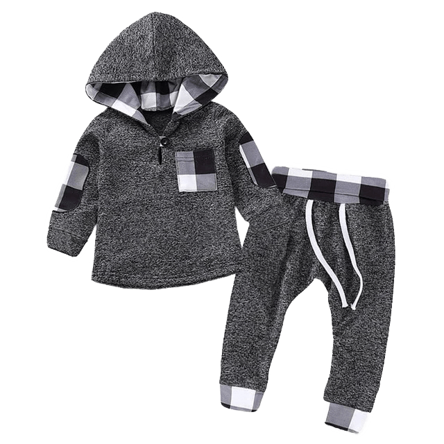 Petite Bello Clothing Set Geometric Hoodies Clothing Set