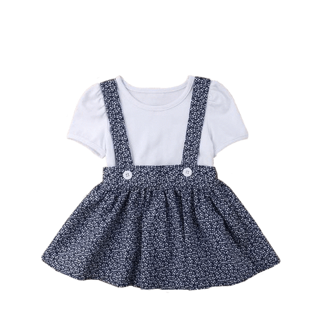 Petite Bello Clothing Set Mia Skirt Overalls