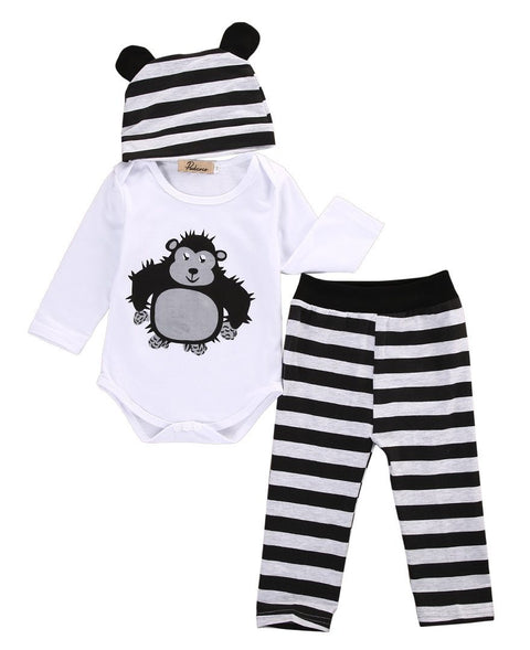 Petite Bello Clothing Set Monkey Stripes Clothing Set
